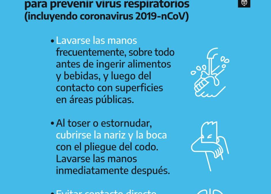Precauciones por el Coronavirus