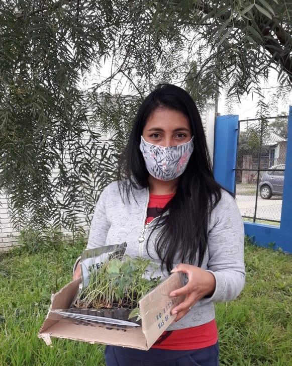 Madre de la escuela N°911 San Vicente